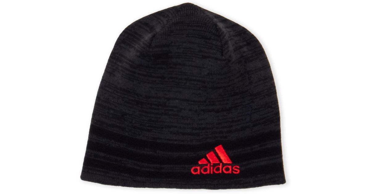 23543f9be6b Lyst - adidas Striped Eclipse Reversible Ii Beanie in Black for Men