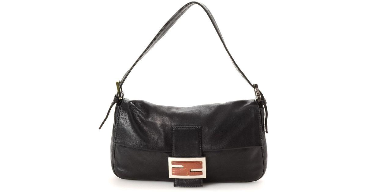 fc32590d52 Lyst - Fendi Shoulder Bag - Vintage in Black