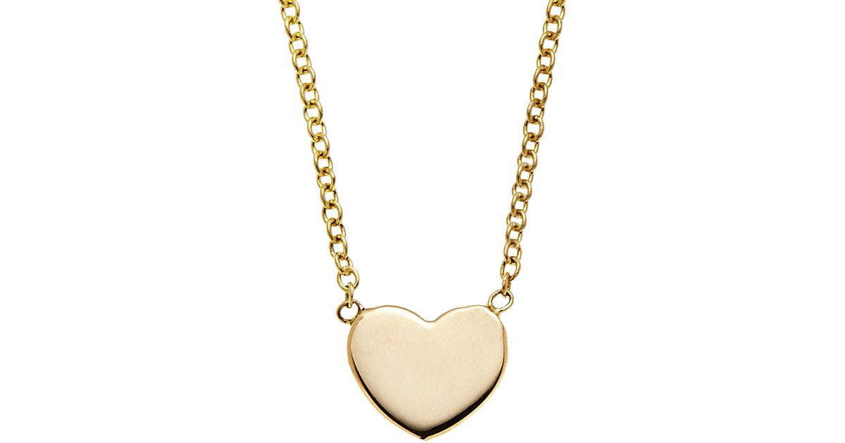 Lyst kacey k 14k gold heart shaped pendant necklace in black aloadofball Choice Image