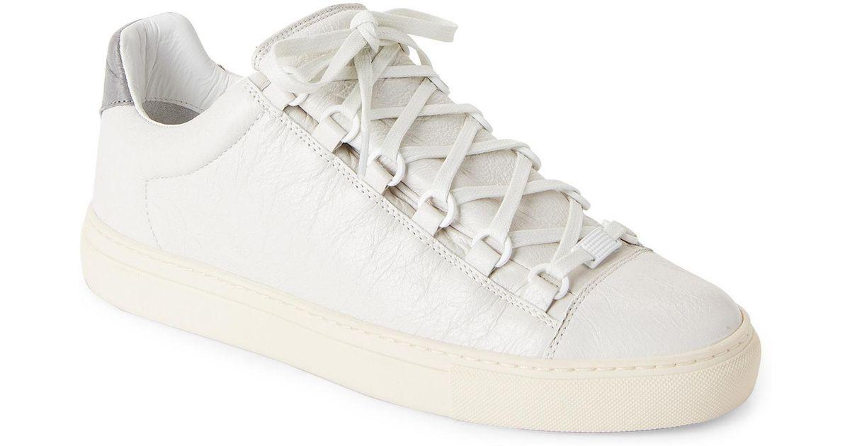 011f334ca0f1 Lyst - Balenciaga Off-white   Grey Arena Bicolor Low-top Sneakers in White  for Men