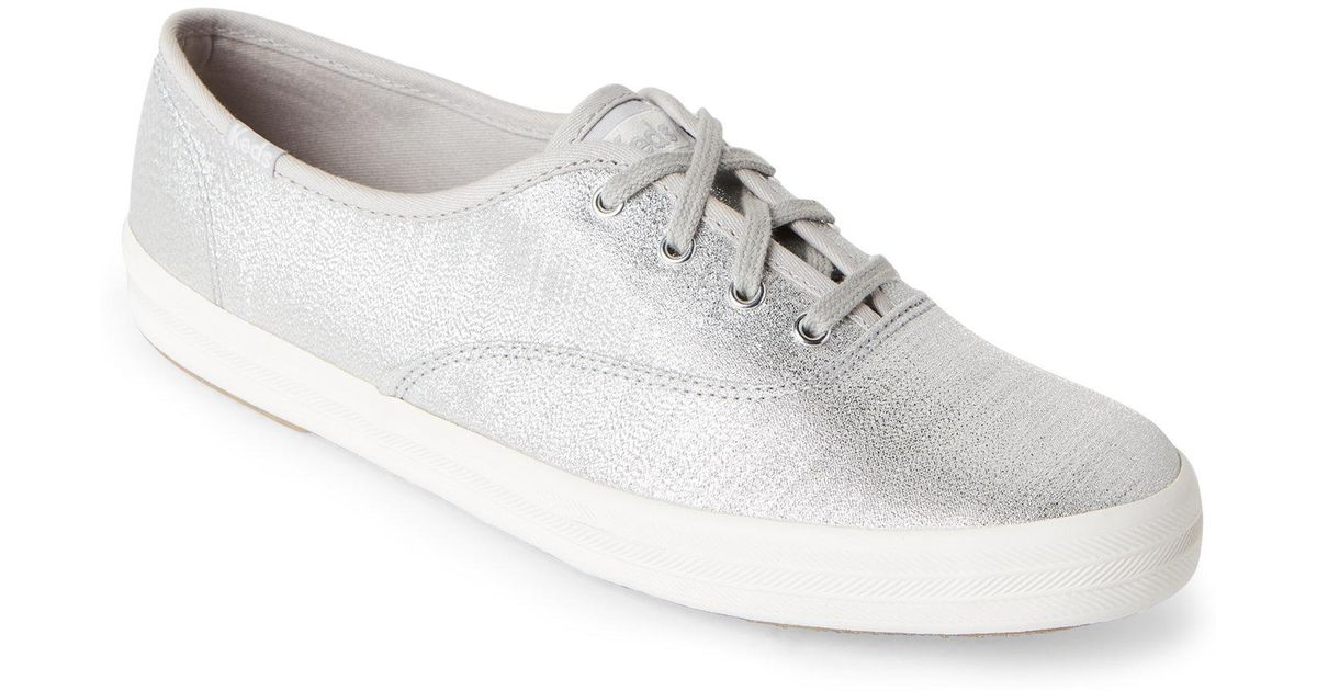 d0101bd57ea Lyst - Keds Silver Champion Lurex Sneakers in Metallic