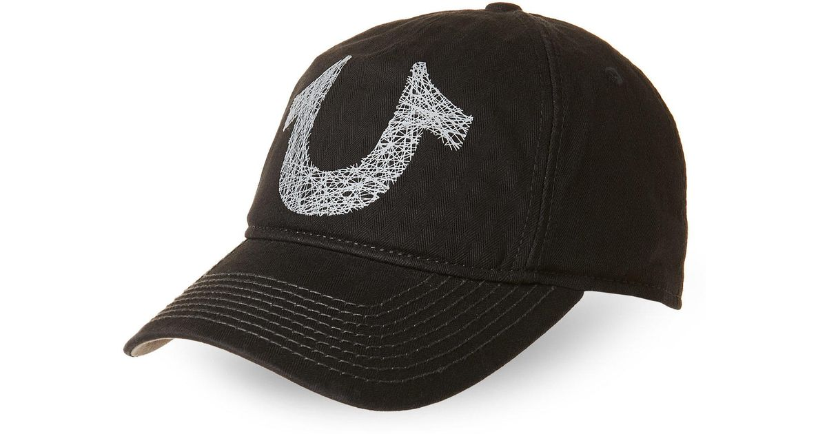b65bc4ea83c5c True Religion Shoestring Horseshoe Baseball Cap in Black for Men - Lyst