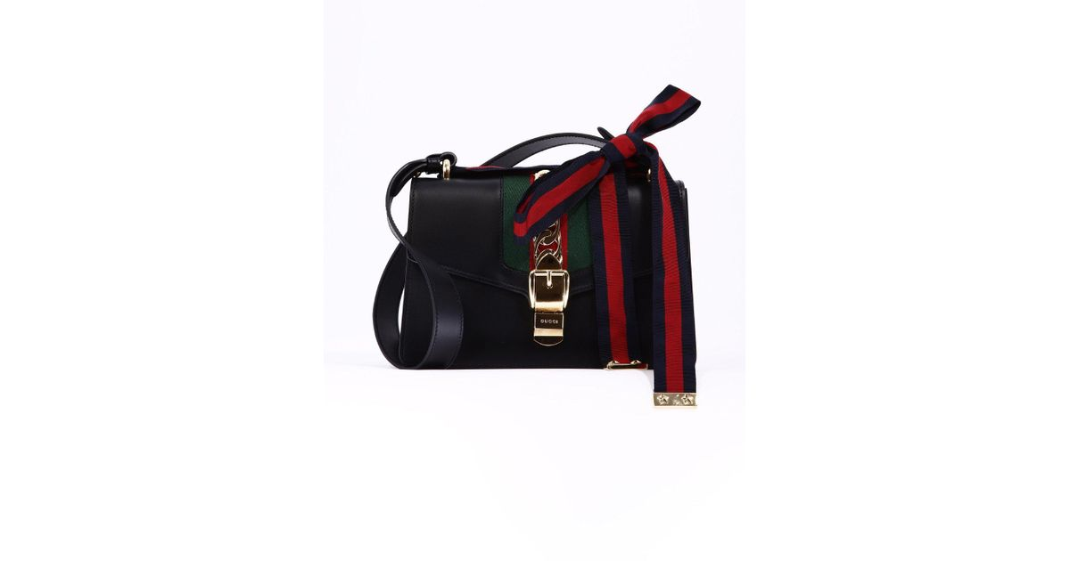 1382cb3eba3 Gucci Sylvie Shoulder Bag in Black - Lyst