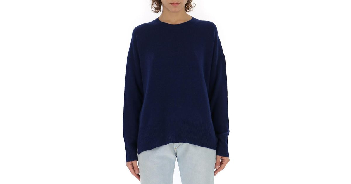 60630b4cdf1 Lyst - Theory Cashmere Pullover in Blue