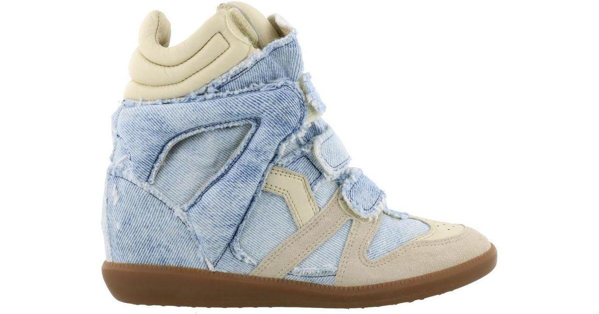 ec5ef0141c1 Denim Marant in Blue Sneakers Isabel Lyst Beckett tCxshrdQ