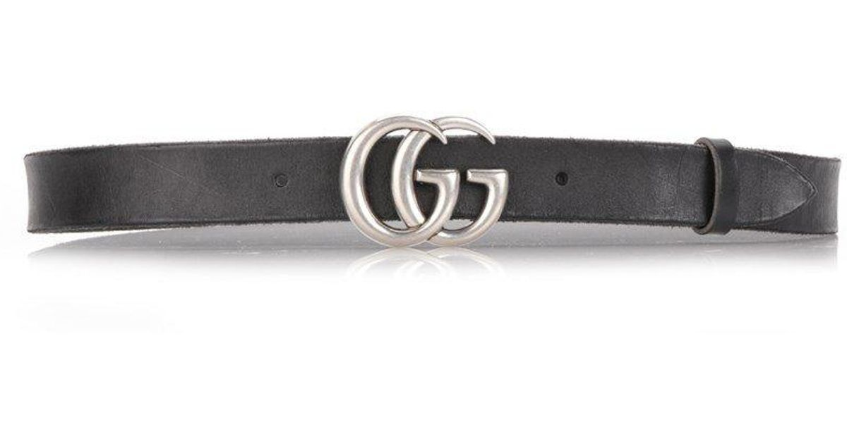 9e923fcbaad Lyst - Gucci GG Logo Leather Belt in Black for Men