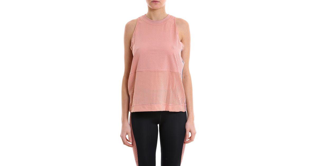7a232797d4def Lyst - adidas By Stella McCartney Mesh Tank Top in Pink