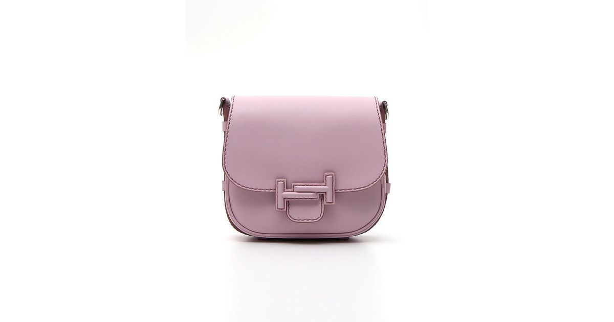 54b838be10 Lyst - Tod's Double T Saddle Bag in Pink