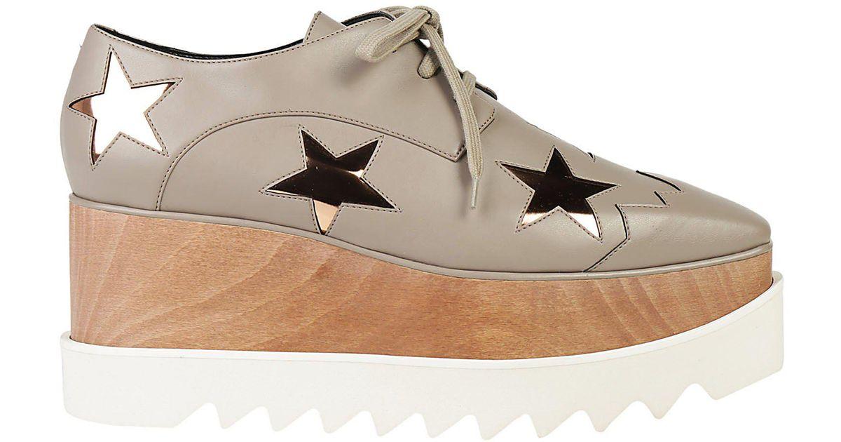 290f8f26f622 Lyst - Stella McCartney Elyse Star Platform Shoes in Gray