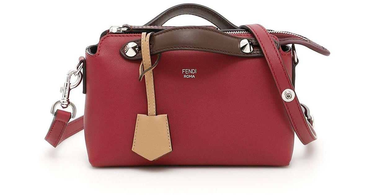 Lyst - Fendi By The Way Mini Boston Bag in Red c1060e24dd060