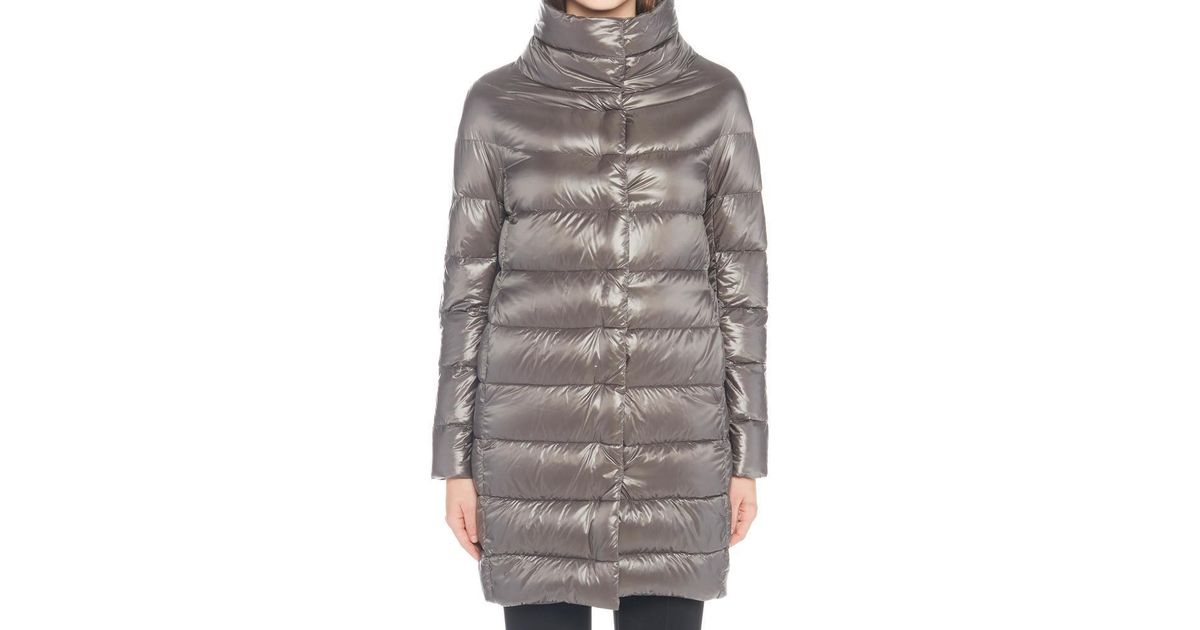 2bf6df18fc57 Lyst - Herno Dora Padded Down Jacket in Gray