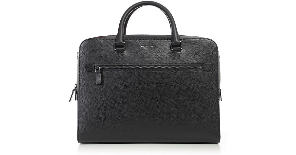 35ed91eb39da Michael Kors Harrison Laptop Bag in Black - Lyst