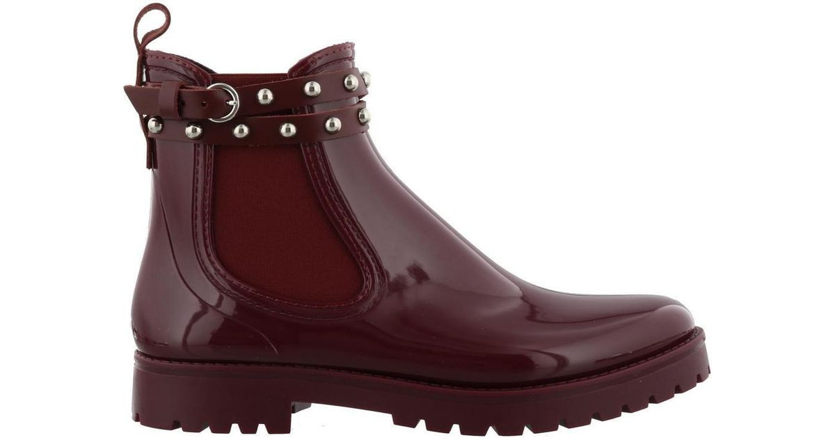d06422e20af RED Valentino Studded Rain Boots in Red - Lyst