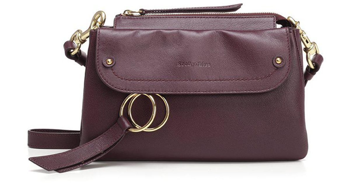c73045ad16 See By Chloé Foldover Crossbody Bag in Purple - Lyst