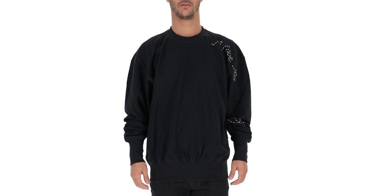 4a0369281 Lyst - Adidas Y-3 X Yohji Yamamoto Sashiko Slogan Sweater in Black for Men