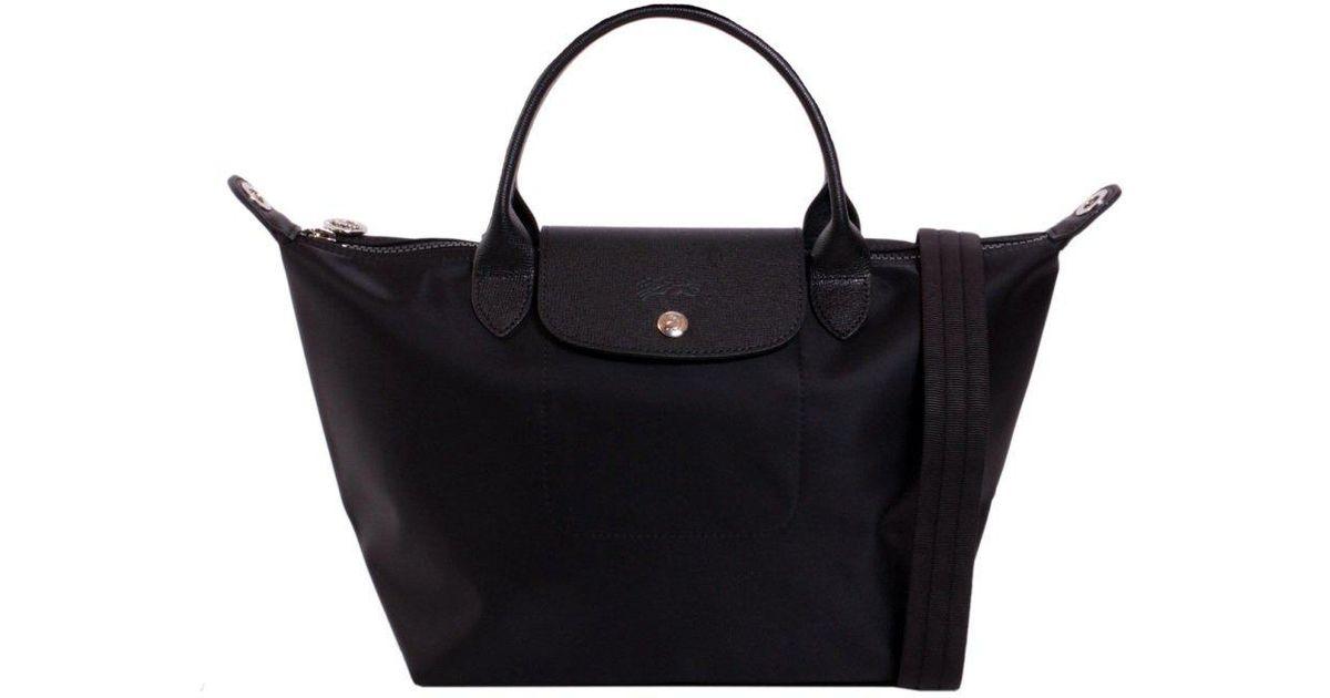 Longchamp Le Pliage Neo S Tote Bag in Black - Lyst 8809871e42131