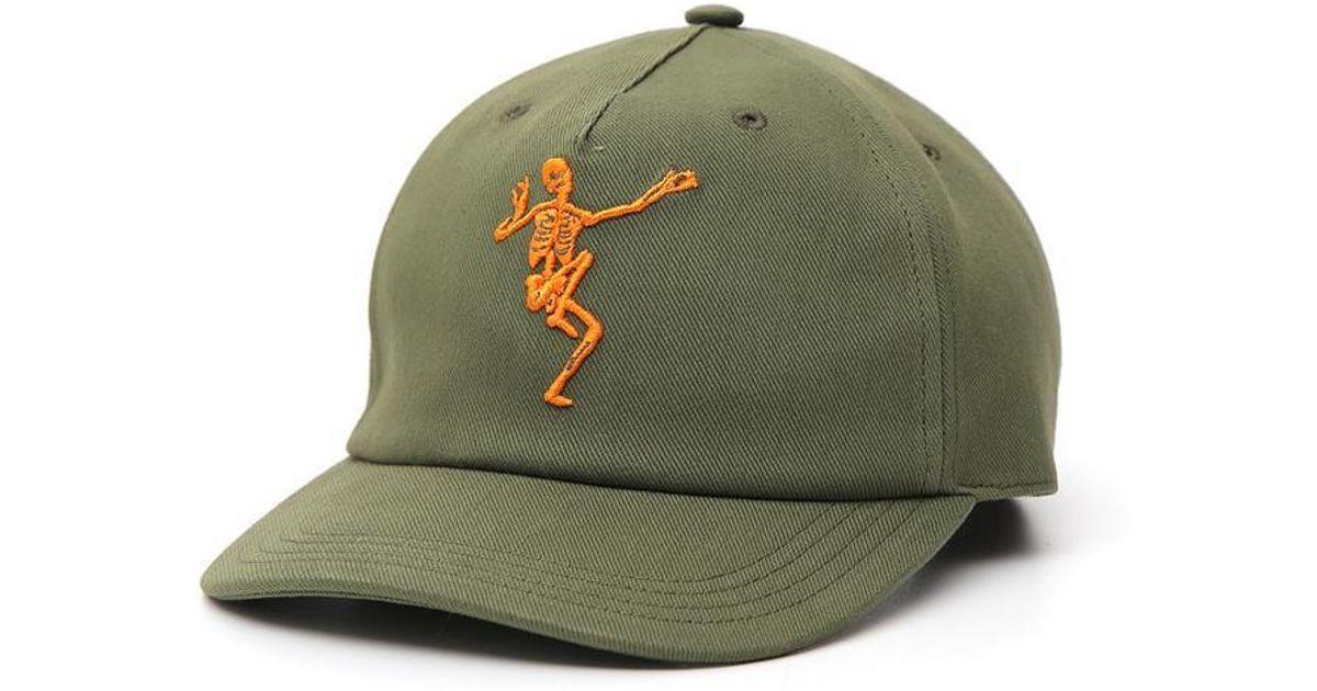 46fb1da85e72c0 Alexander McQueen Skeleton Embroidered Cap in Green for Men - Lyst