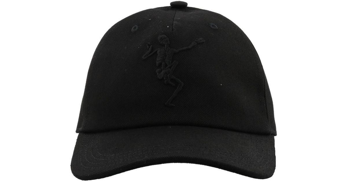 718318f61805c5 Lyst - Alexander Mcqueen Dancing Skeleton Cap in Black for Men