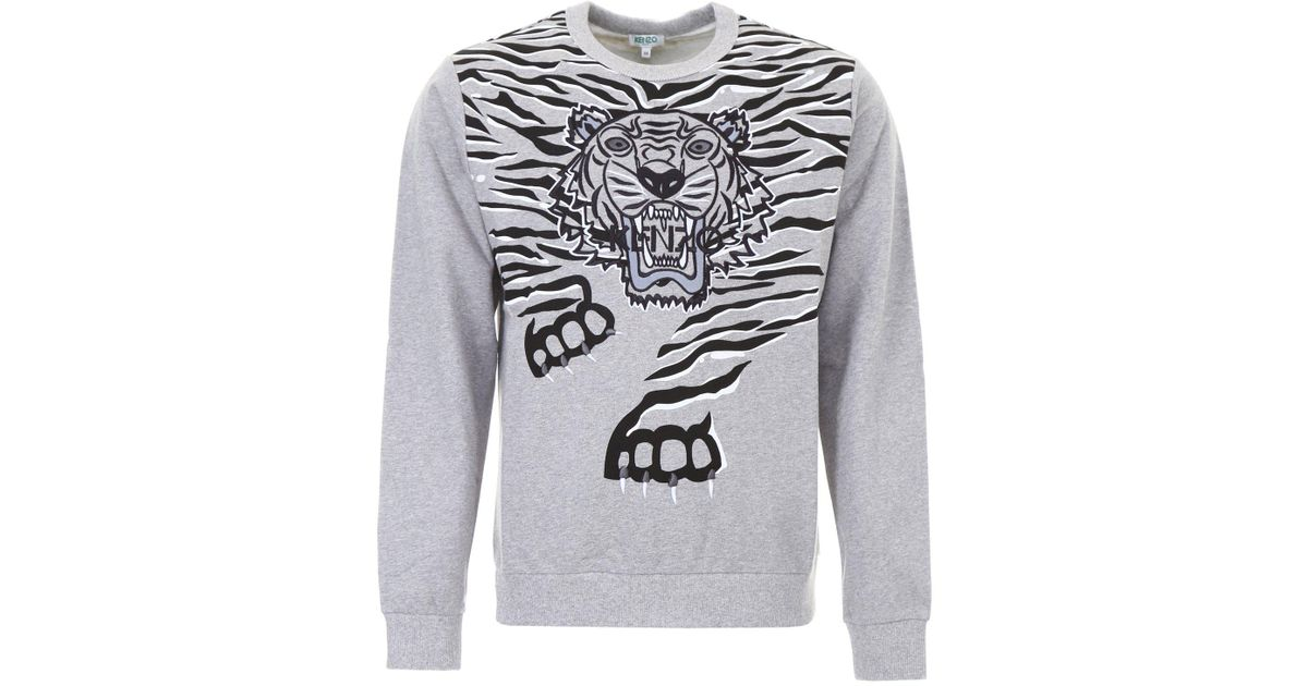 b8d1ea1f Lyst - Kenzo Tiger Print Sweater in Gray for Men