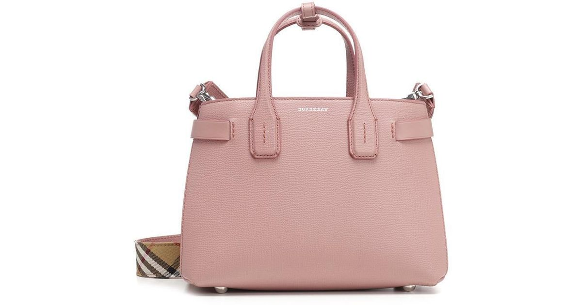 Lyst - Burberry The Banner Tote Bag in Pink b865657babca2