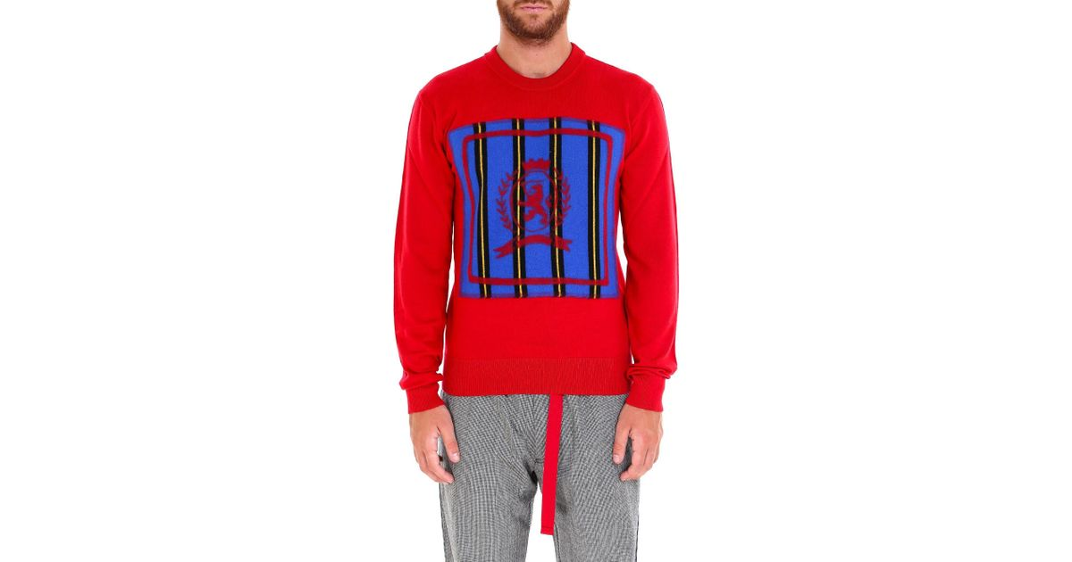 fb6bfe46 Lyst - Tommy Hilfiger Embroidered Logo Sweatshirt in Red for Men