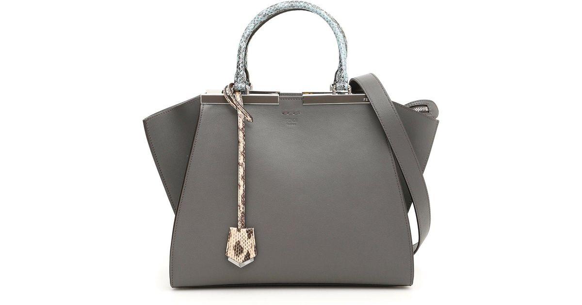 cfdc3e0064e7 Fendi 3jours Tote Bag in Gray - Lyst