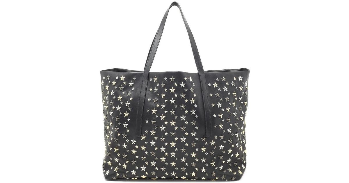 213b9f4b3 Lyst - Jimmy Choo Pimplico Star Studded Tote Bag in Black