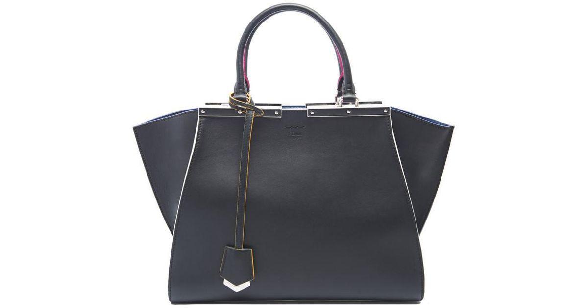 6a5663f9d5e2 Fendi 3 Jours Tote Bag in Black - Lyst