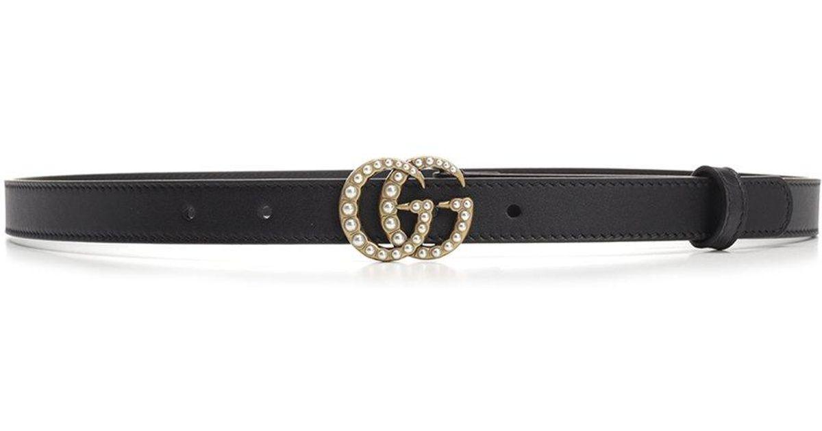 db077f3ab73 Lyst - Gucci GG Marmont Belt in Black