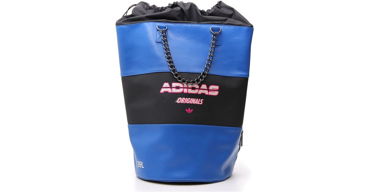 Lyst - Adidas Large Bucket Backpack in Blue b47825674c2c4