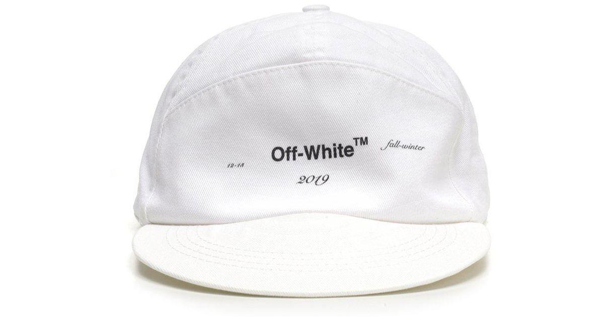 ab6f6169bbd92b Off-White c/o Virgil Abloh Logo Print Snapback Hat in White for Men - Lyst