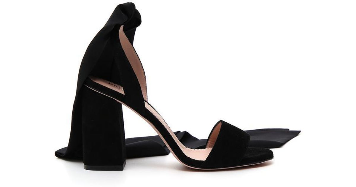 5dcaa1c5693 Lyst - RED Valentino Ankle Tie Sandals in Black