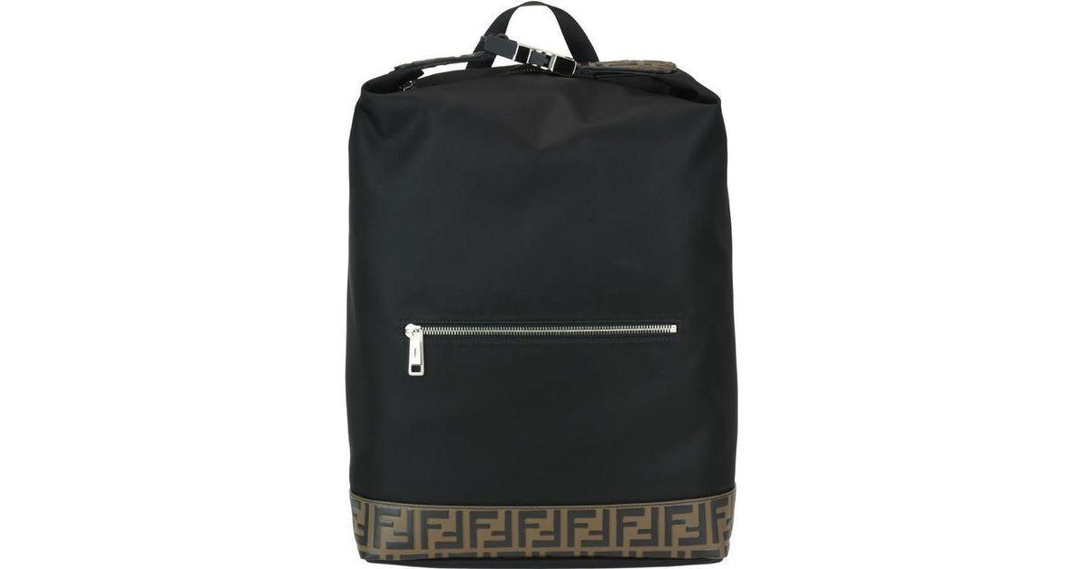 Lyst - Fendi Monogram Stripe Backpack in Black 7edec23b99c4b