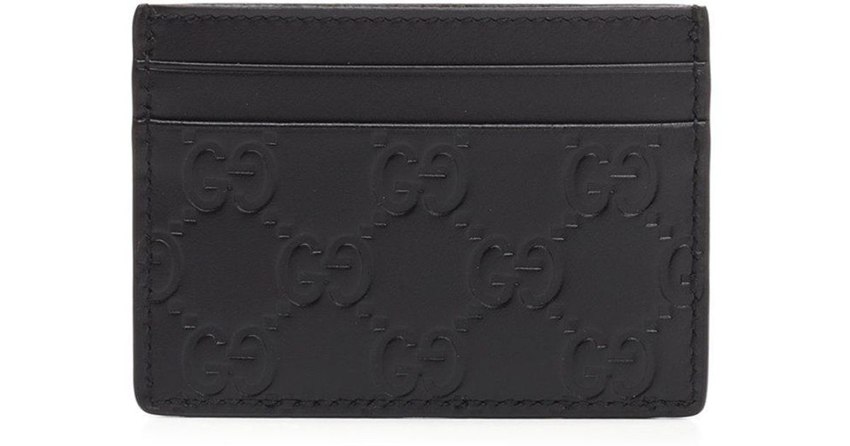 1644e35567a25a Lyst - Gucci Leather Cardholder in Black