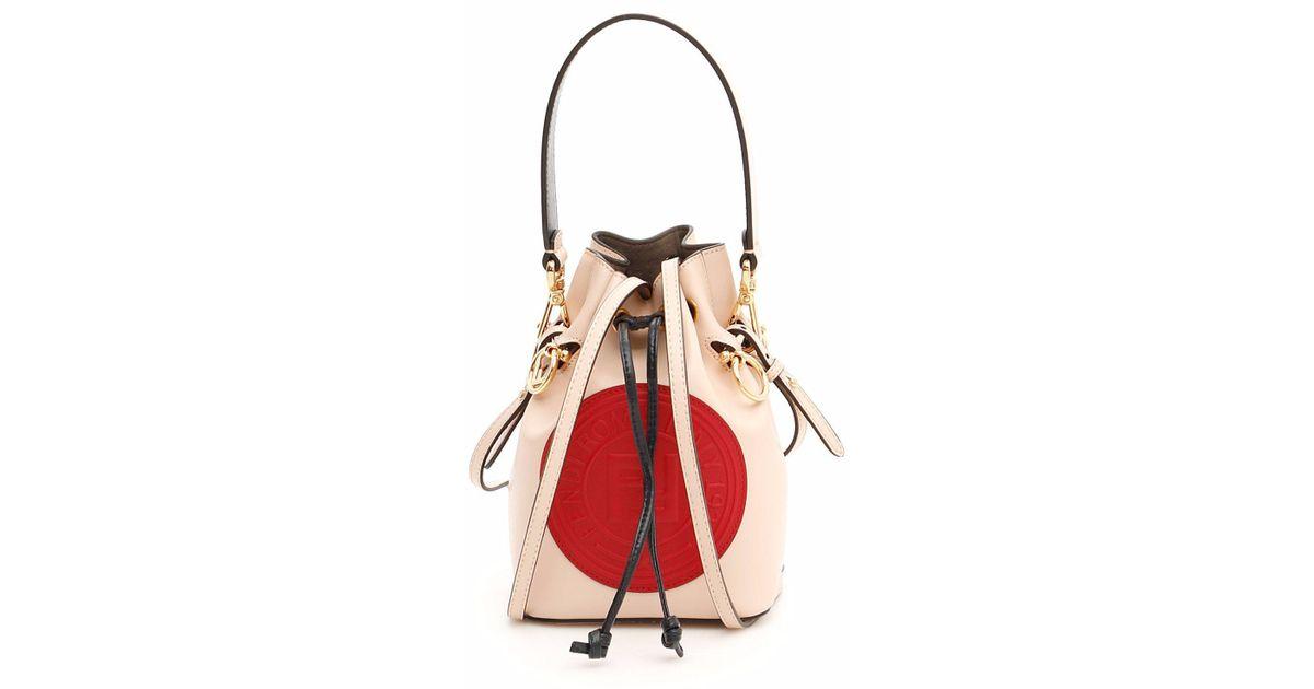 834e7605b642 Lyst - Fendi Mon Tresor Mini Bucket Bag in Pink