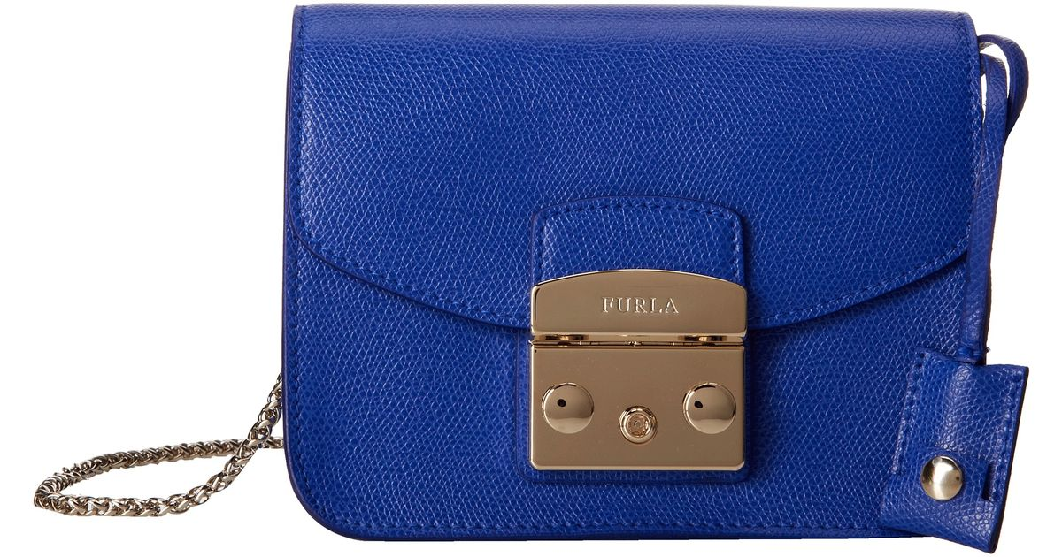 b63a9d62750a Lyst - Furla Metropolis Mini Crossbody in Blue