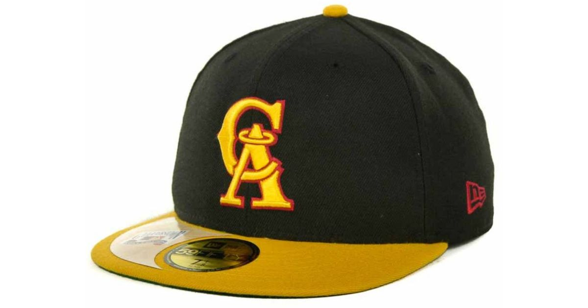 save off e8d10 f339b spain los angeles angels hat yellow e4b3b 07886