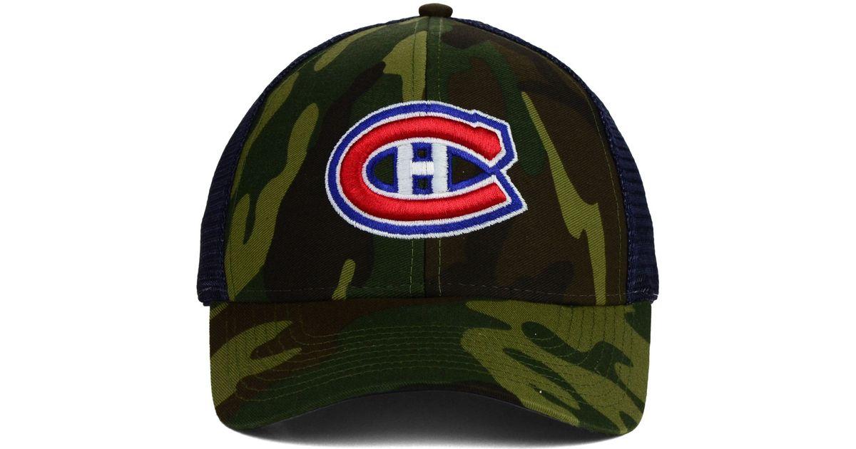 size 40 1608f 8b5e7 mens montreal canadiens adidas camo flex hat 2  lyst reebok montreal  canadiens camo trucker cap in green for men