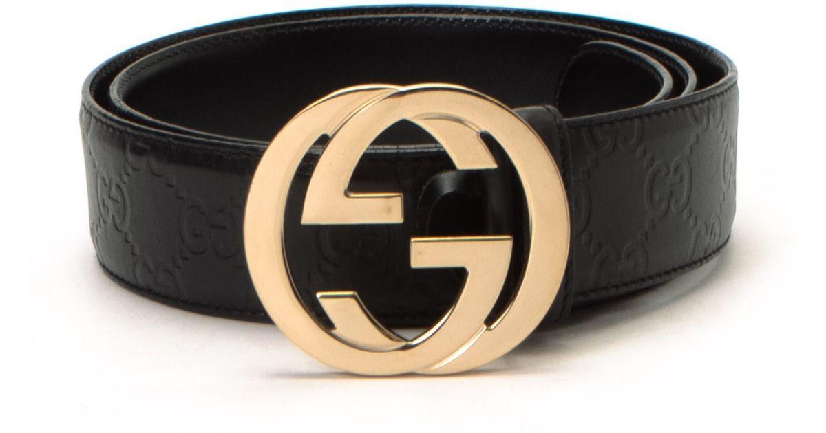 lyst gucci belt vintage in black