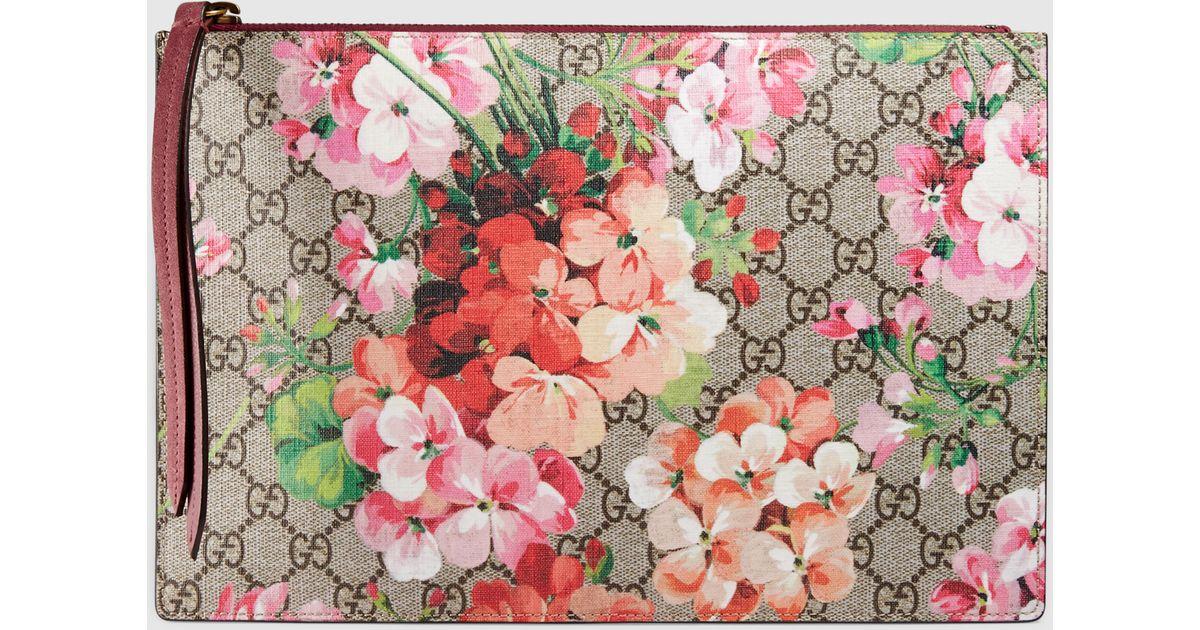 d60b94e1868 Lyst - Gucci Gg Blooms Pouch