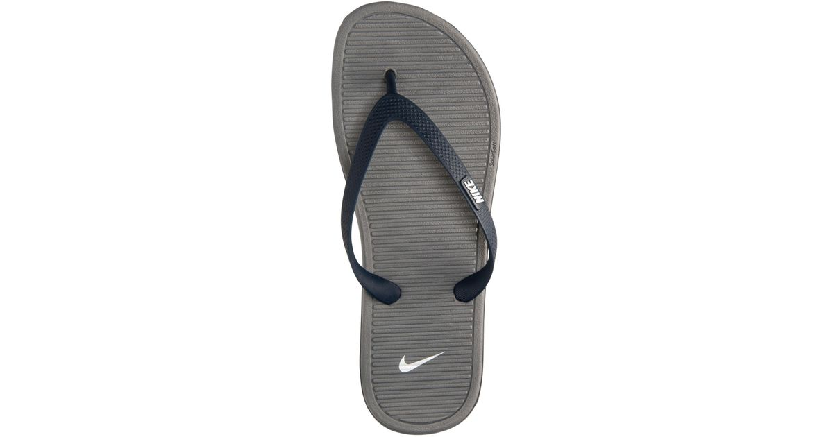 Lyst - Nike Men s Solarsoft Thong Ii Sandals From Finish Line in Blue for  Men 5467dcb2c