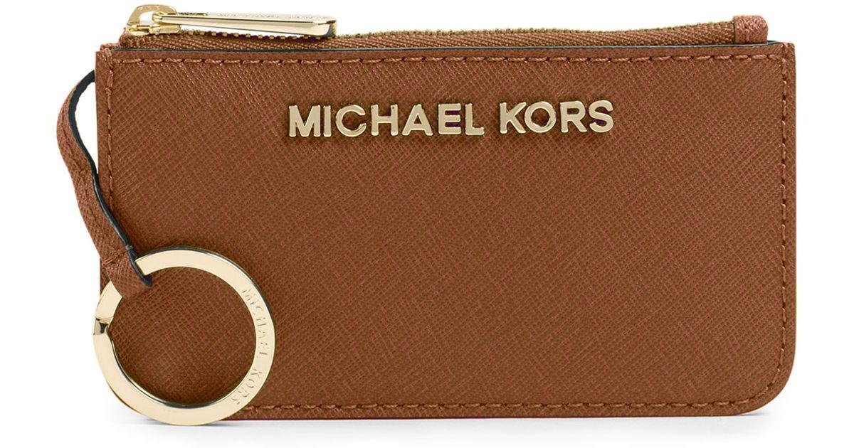 1f699fbec1d1 MICHAEL Michael Kors Jet Set Travel Key Pouch in Brown - Lyst
