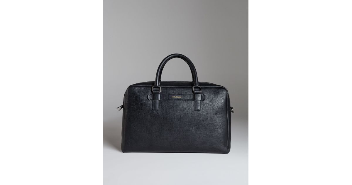 c8412bc041 Lyst - Dolce   Gabbana Mediterraneo Travel Bag In Grained Leather in Black  for Men