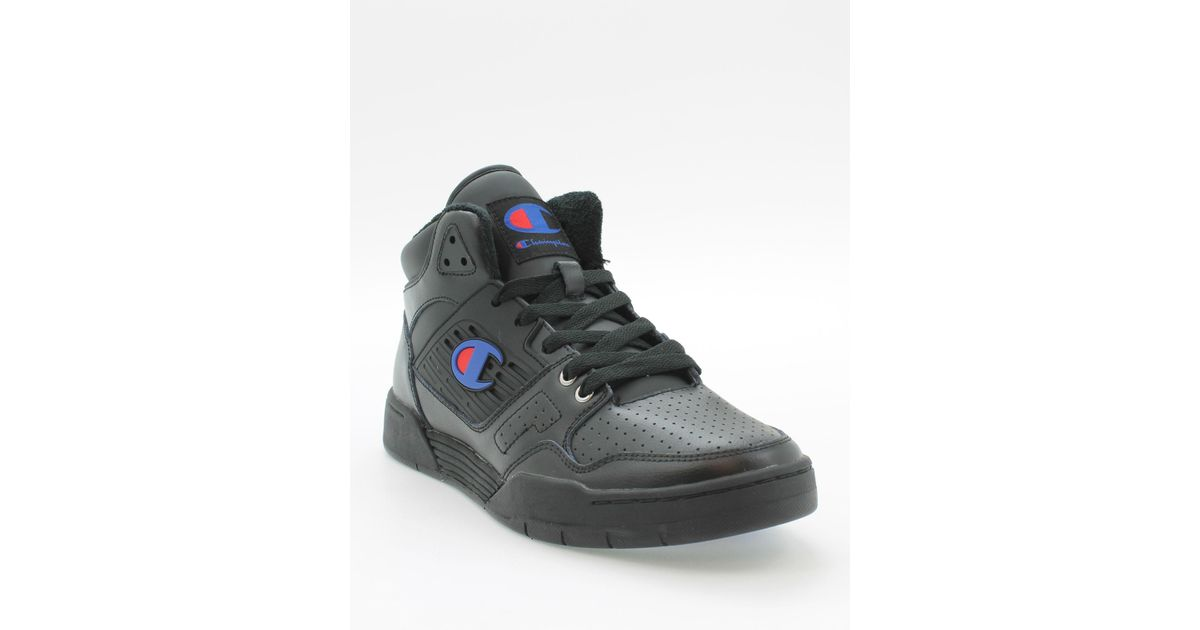 9e718507a801f Lyst - Champion Life® 3 On 3 Black Leather Shoes in Black for Men
