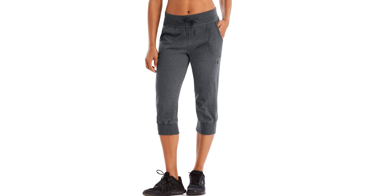 8ac3f3aaf989 Lyst - Champion Authentic Jersey Banded Knee Pants in Gray