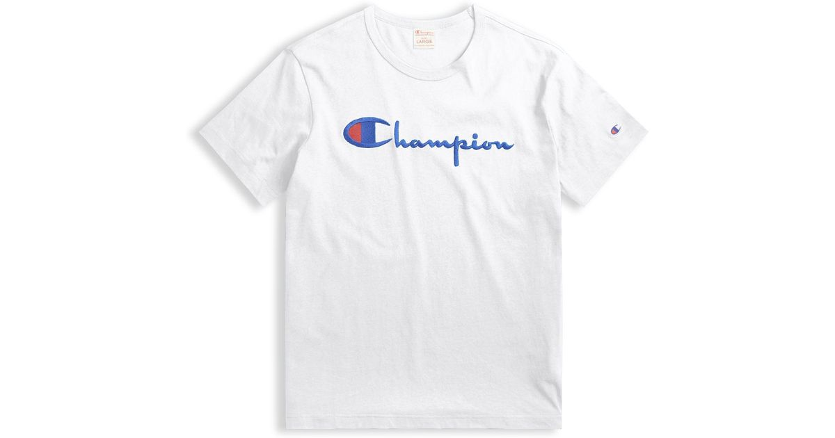 d8fbf5d7 Champion Logo T-shirt in White for Men - Save 85% - Lyst