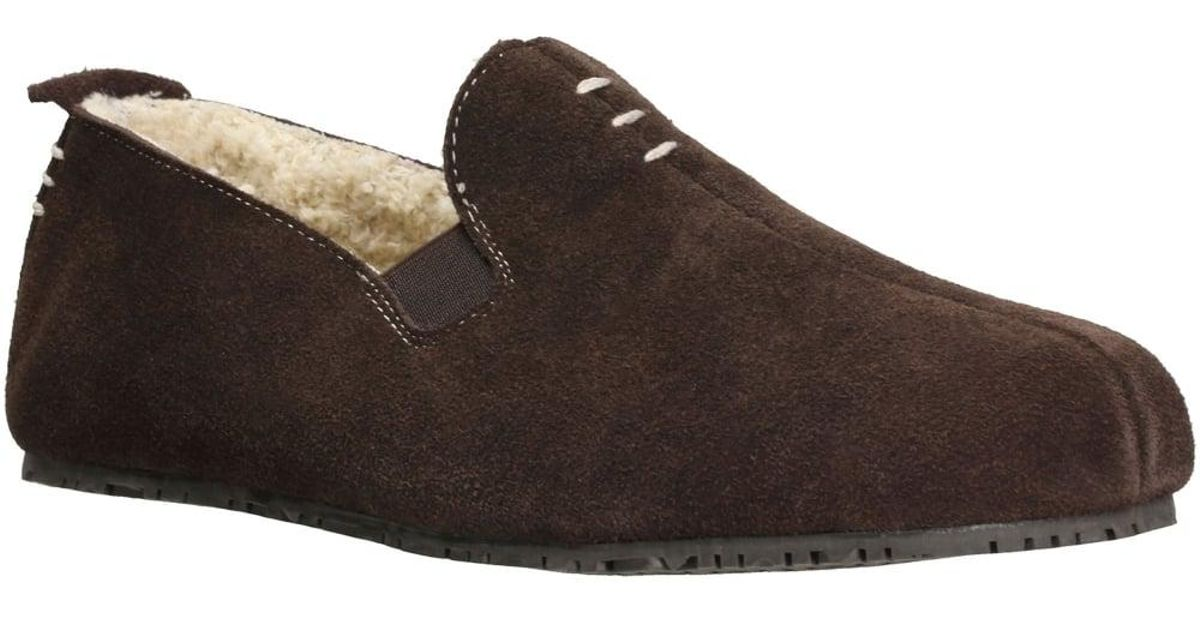 7b4f1eff15595 Clarks Kite Falcon Mens Suede Slippers in Brown for Men - Lyst