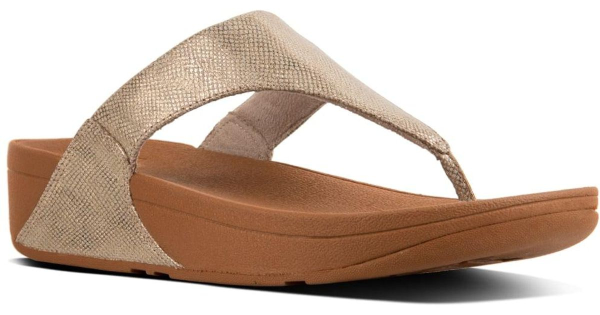 7f3ec7156 Lyst - Fitflop Shimmy Suede Toe-thong Sandals Flip-flop in Brown - Save 8%