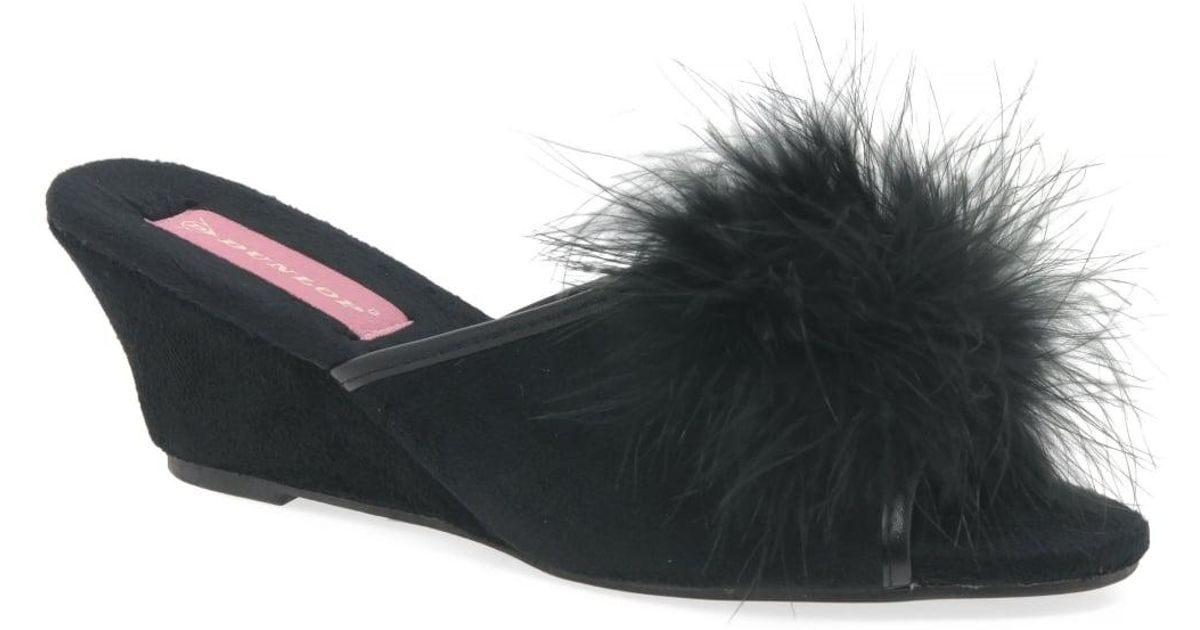 0271174acc02 Dunlop Marilyn Womens Mule Slippers in Black - Lyst