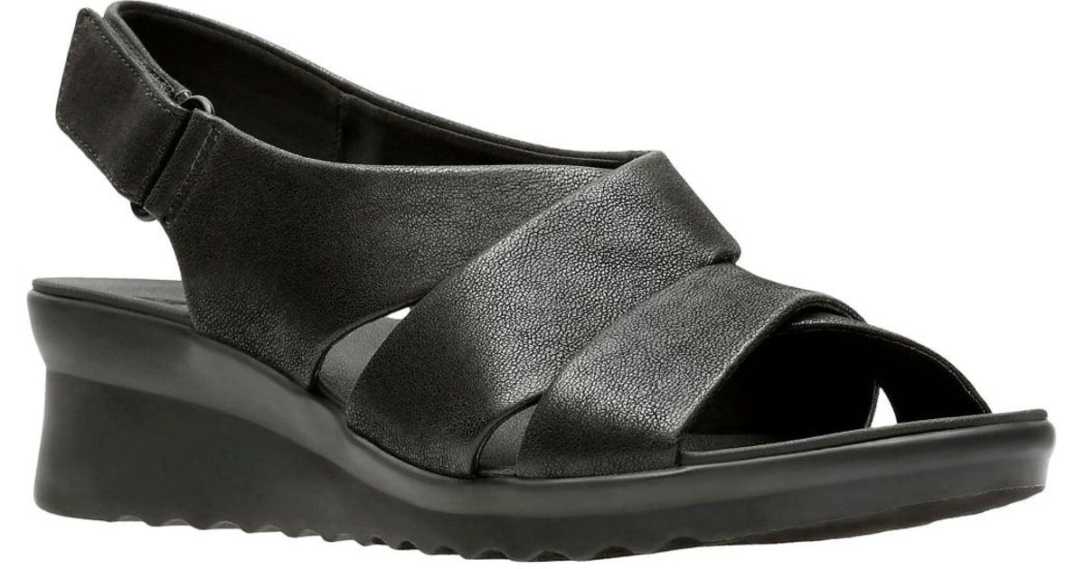 47aebc5d33c Lyst - Clarks Caddell Petal Womens Wide Slingback Sandal in Black